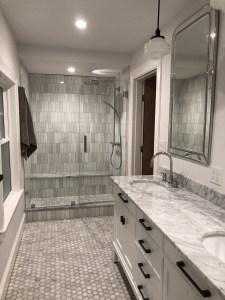 grey and white bathroom