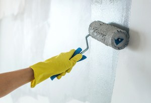 painting a wall grey